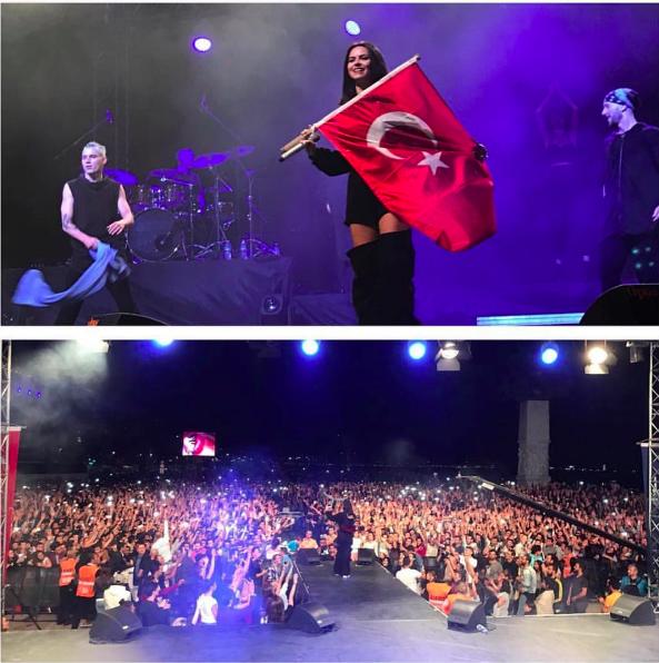 INNA, concert în fața a 400.000 de oameni. Cât de sexy a fost artista pe scena din Turcia