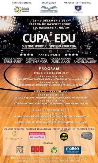Colegiul Național Aurel Vlaicu din București a cucerit Cupa EDU, competiție de baschet pentru colegii. Totul despre turneu