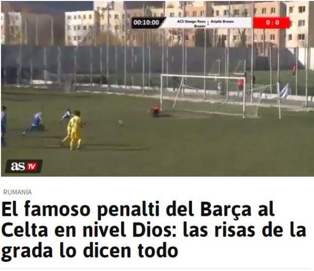 Așa au prezentat cei de la AS penalty-ul de la Brașov