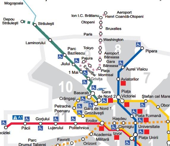 Harta metrou tronson Străulești