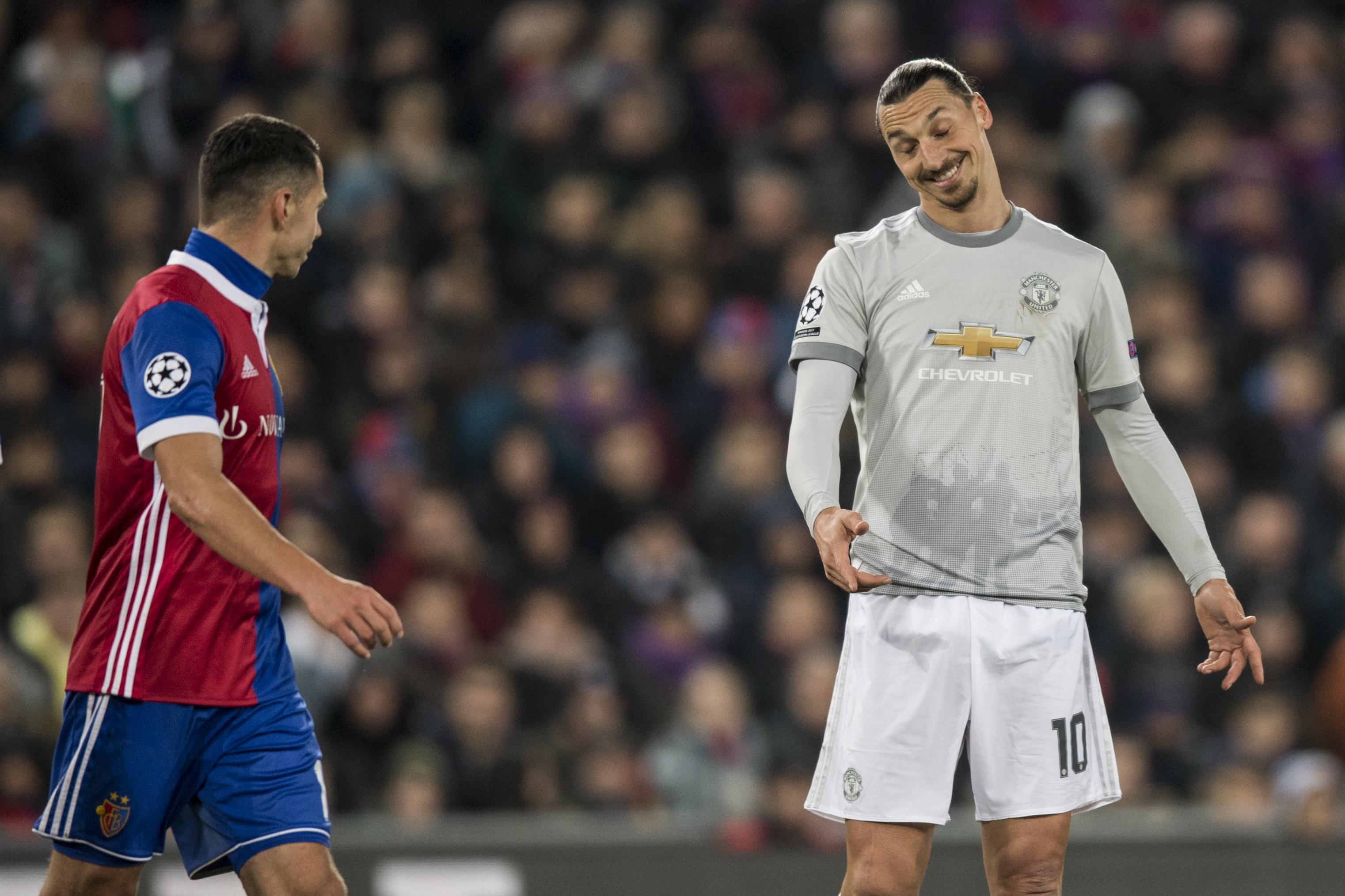 Eșecul din Elveția nu l-a întristat pe Zlatan Ibrahimovic (dreapta). (FOTO: EPA)