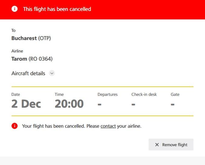 UPDATE | Reprezentantul TAROM Amsterdam, demis. Zeci de români au dormit în aeroport, după ce cursa lor a fost anulată
