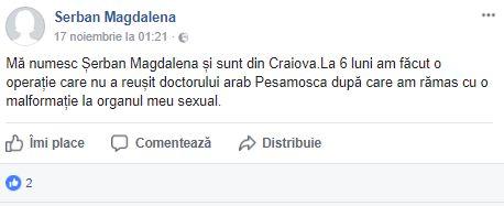 Mesajele șocante publicate de criminala de la metrou pe Facebook: M-a violat, mi-a văzut malformaţia | FOTO