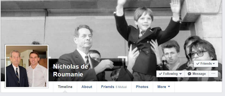 Principele Nicolae și-a schimbat fotografiile de pe Facebook după moartea bunicului său