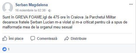 Mesajele șocante publicate de criminala de la metrou pe Facebook: M-a violat, mi-a văzut malformaţia   FOTO