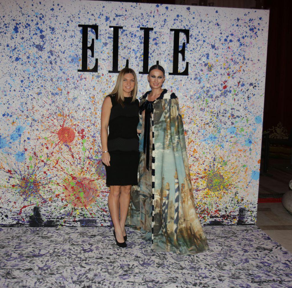 Simona Halep și Roxana Voloșeniuc (redactor-șef Elle România), la Gala Elle Style Awards 2017