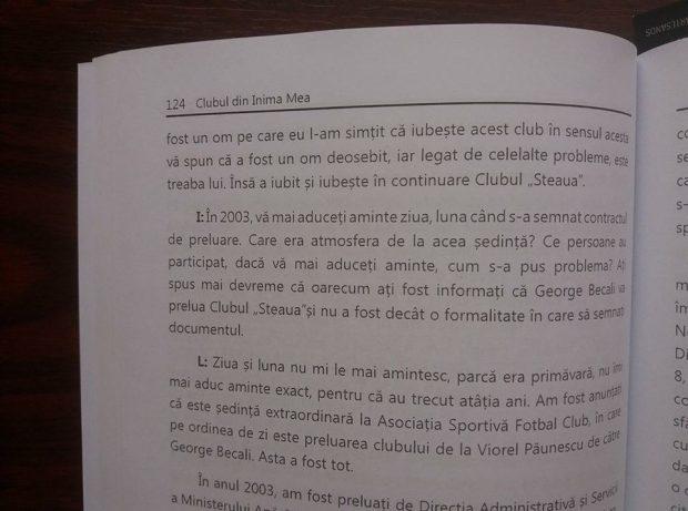 Laurențiu Roșu, fostul comandant al clubului Steaua, i-a dedicat o odă lui Becali într-o carte! Armata e cu Gigi!
