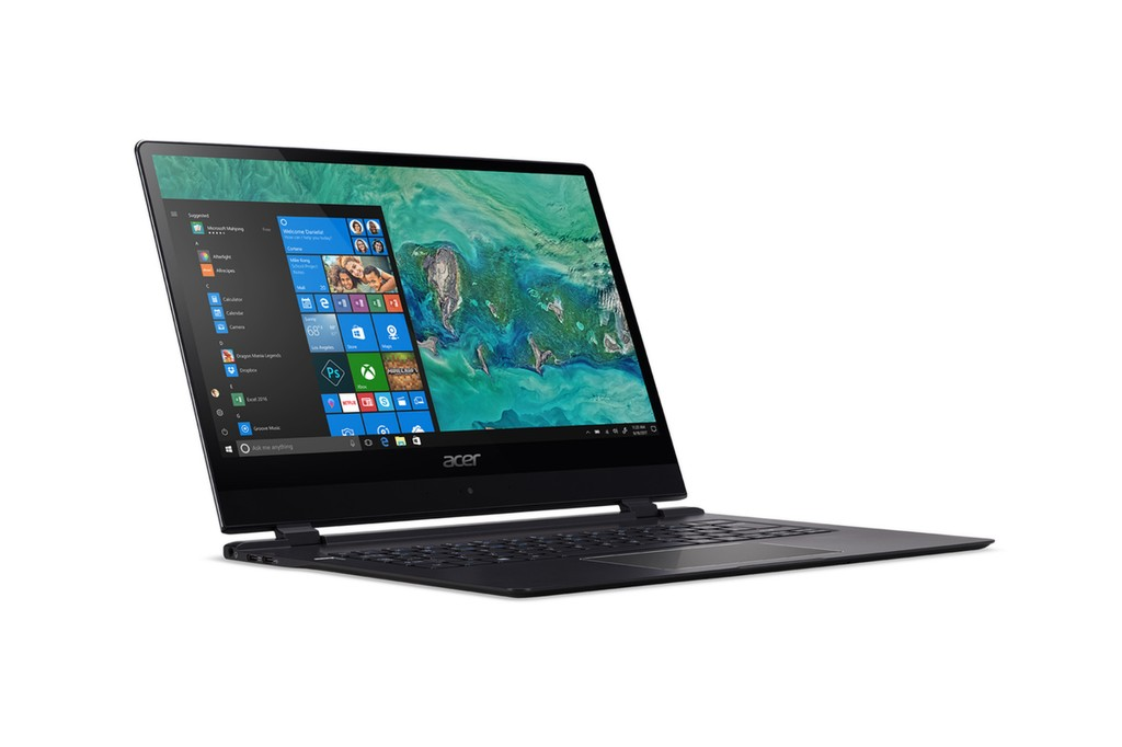 Acer a lansat cel mai subțire laptop din lume la CES 2018. Este vorba de noua generație a modelului Acer Swift 7. Acer Swift 7 în imagine