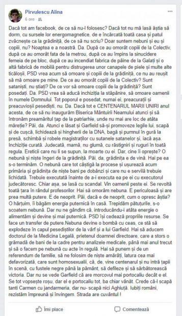 Alina Pirvulescu - Facebook