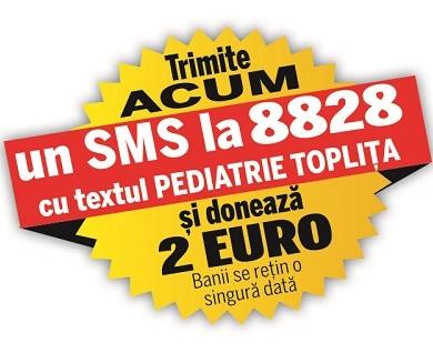 Ajutor pentu secția de pediatrie a Spitalului Municipal Toplița