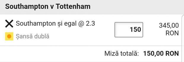 Cota zilei și avancronică pentru Southampton vs Tottenham
