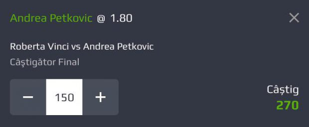 Cota zilei din Tenis – Roberta Vinci vs Andrea Petkovic