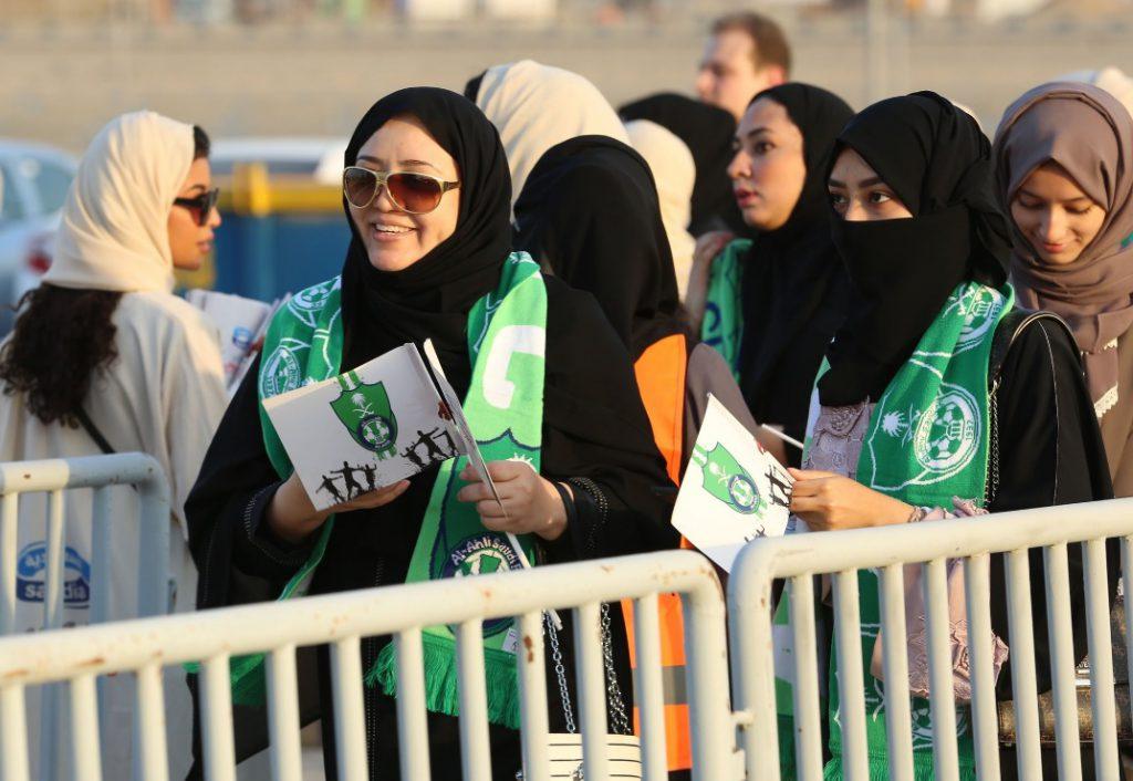 Femeile din Arabia Saudită au avut voie pe un stadion de fotbal pentru prima dată în istorie