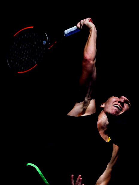Simona Halep nu se desparte prea ușor de Adidas. Liderul WTA este tot un zâmbet la antrenamente