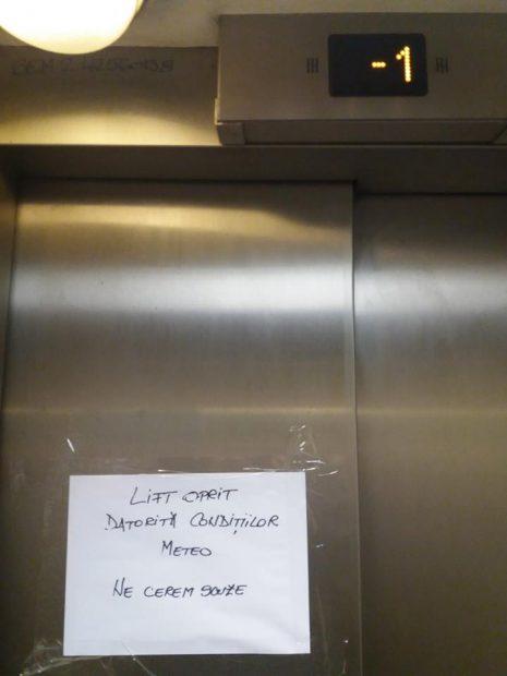 anunt lift metrou