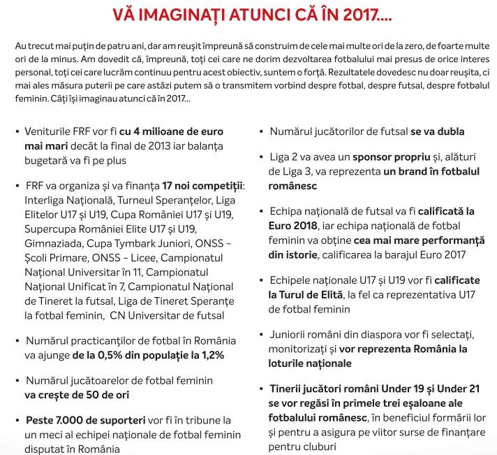 Programul electoral al lui Răzvan Burleanu cuprinde un amalgam de laude, promisiuni și săgeți la adresa lui Mircea Sandu și a contracandidaților