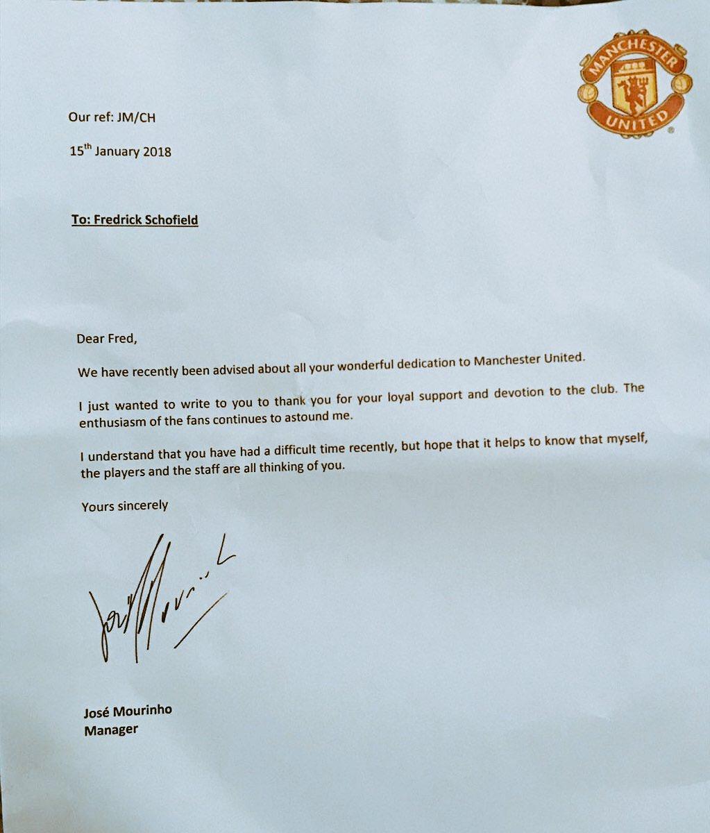 Scrisoare Manchester United