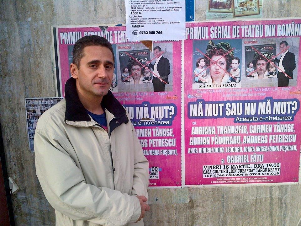 """EXCLUSIV/Gabriel Fătu acuză managerul unui teatru că l-a furat. """"Am plătit din buzunar salariile actorilor, am primit în schimb bilete la ordin false"""""""
