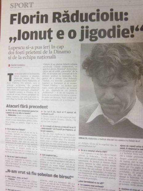 Legăturile lui Ionuț Lupescu cu FRF. În 2005 n-a putut candida din cauză că n-avea studii superioare, acum este liderul Generației de Aur