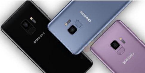 Samsung Galaxy S9 în mov, bleu, negru