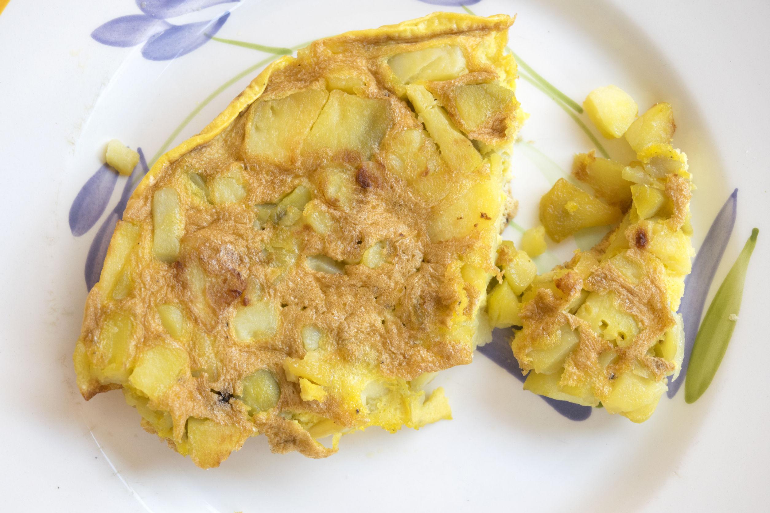 omleta cu cartofi