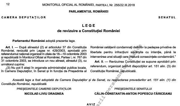 """Inițiativa legislativă cetățenească """"Fără penali în funcții publice"""", semnată de Liiceanu și Șora, publicată în Monitorul Oficial"""