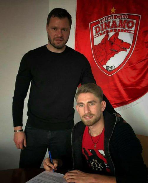 Fundașul central Marco Ehmann a semnat cu Dinamo. A lucrat cu Florin Bratu la naționala Under-18 a României