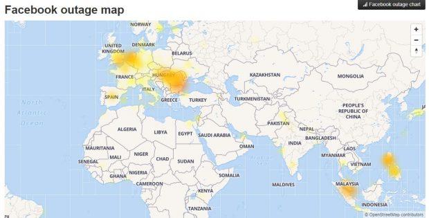 Facebook s-a blocat în mai multe țări din lume. Vezi ce zone sunt afectate
