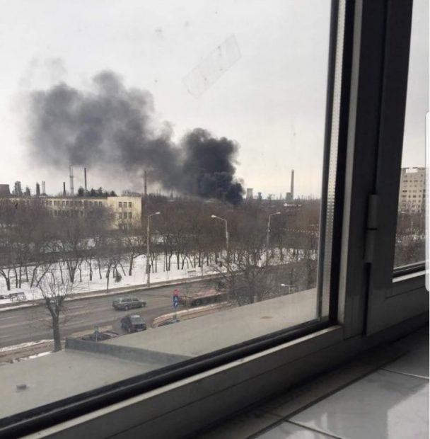 Incendiu puternic la fosta rafinărie Astra din Ploiești