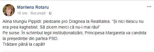 "Marilena Rotaru: ""Principesa Margareta va candida la președinție din partea PSD"""