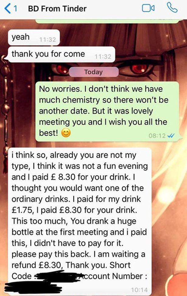 Reacția unui bărbat respins de fată cunoscută pe Tinder. Ce mesaj i-a trimis