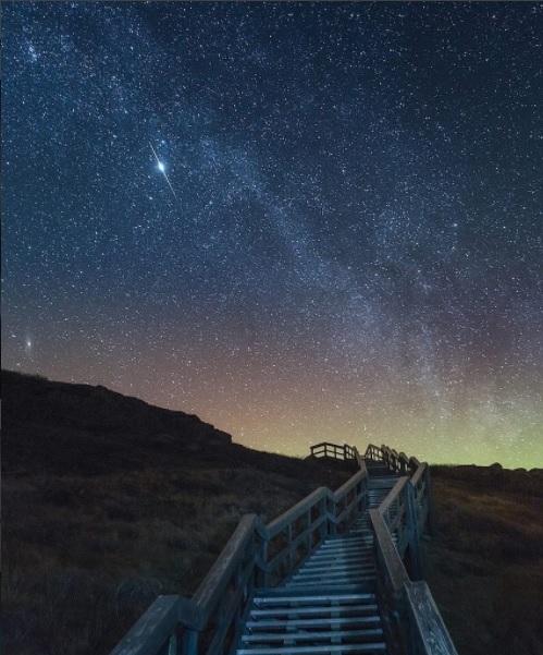 Cerul înstelat al Islandei, fotografiat de Iurie Belegurschi