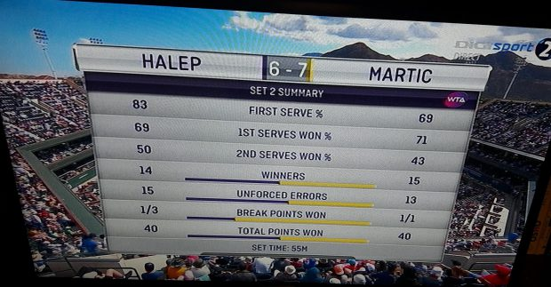LIVE TEXT Simona Halep este în semifinale la Indian Wells, după un meci teribil cu Petra Martic. În semifinale, cu Naomi Osaka