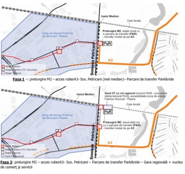 #salvatipipera / Unde se vor construi stațiile de metrou Pipera 2 și Pipera 3