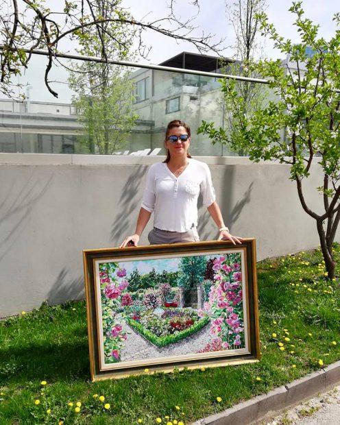 Alexandra Dulgheru, pasionată de pictură. A mânuit pensula înaintea rachetei de tenis