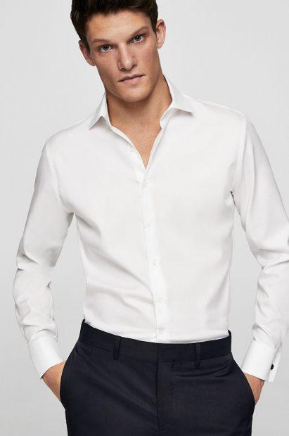 Cum să te îmbraci ca Mark Zuckerberg?-cămașă albă cu guler normal