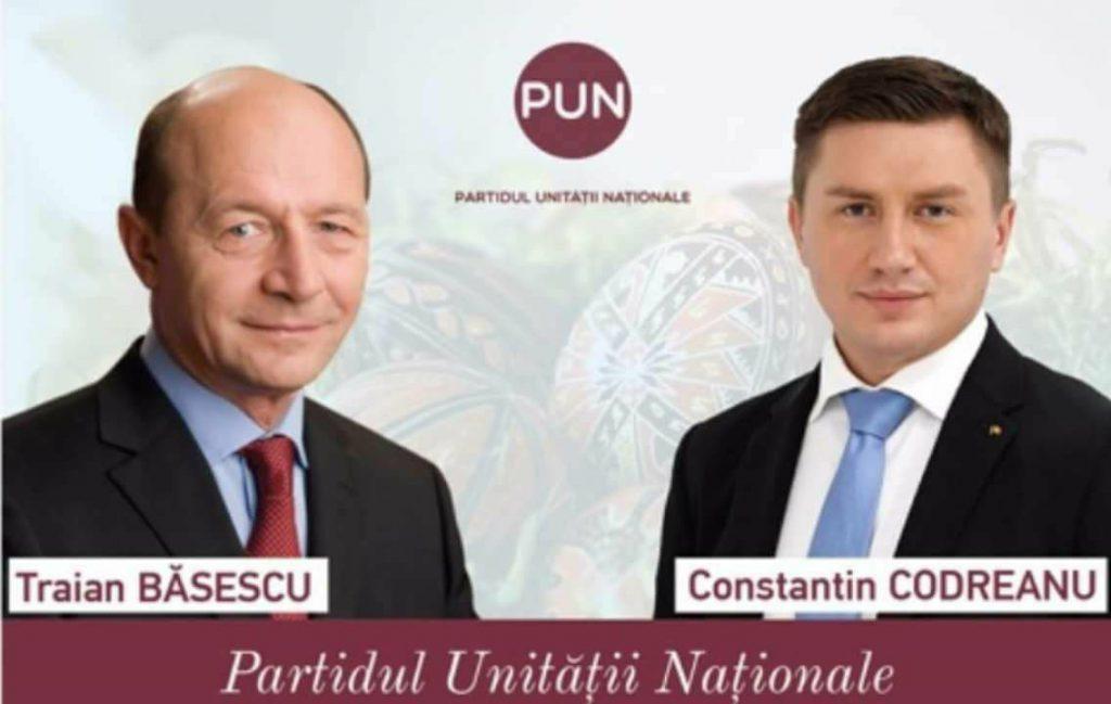 Constantin Codreanu va candida la alegerile pentru Primăria Chișinău. Afiș electoral, Traian Băsescu altături de Constantin Codreanu