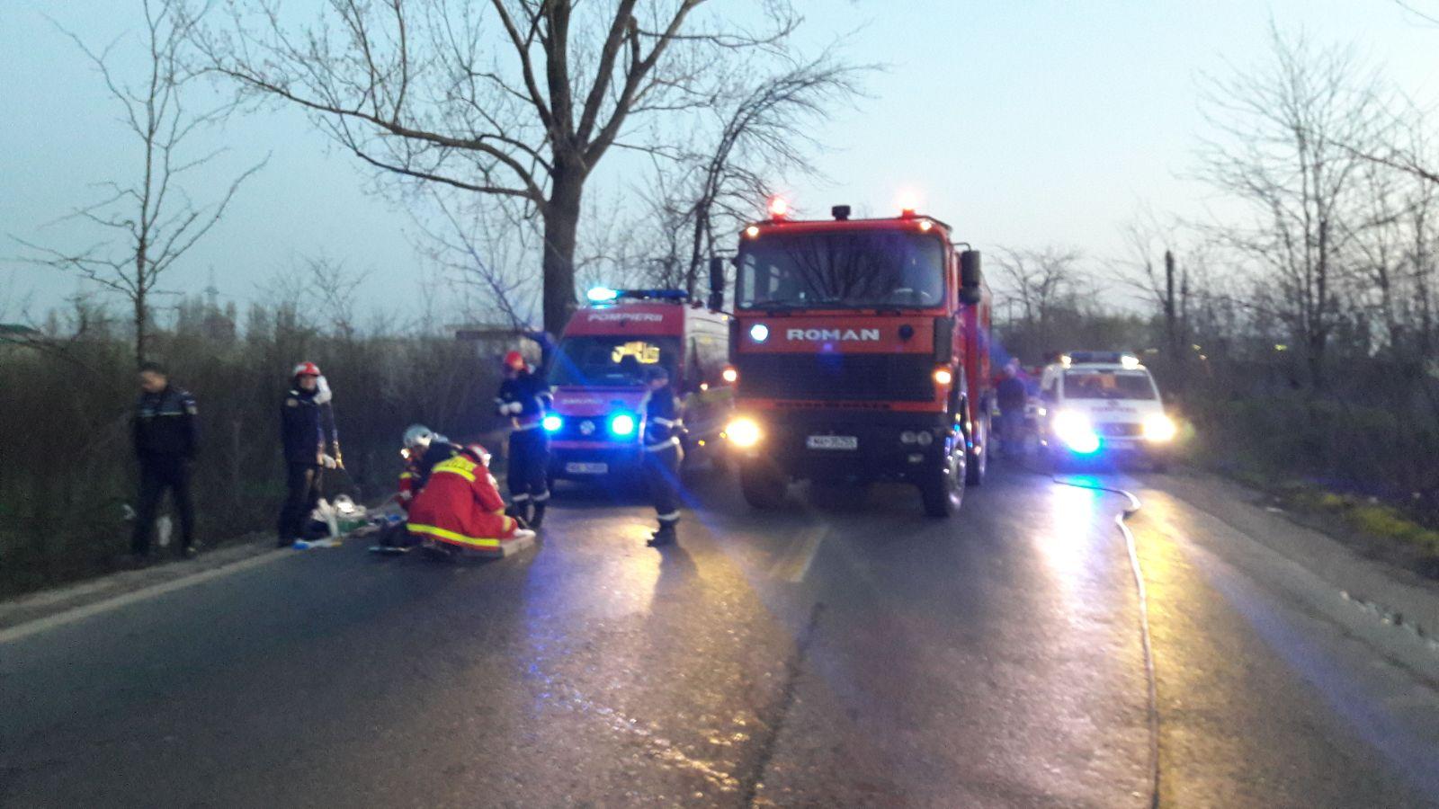 O mașină a luat foc pe Centura Bucureștiului. Șoferul a murit