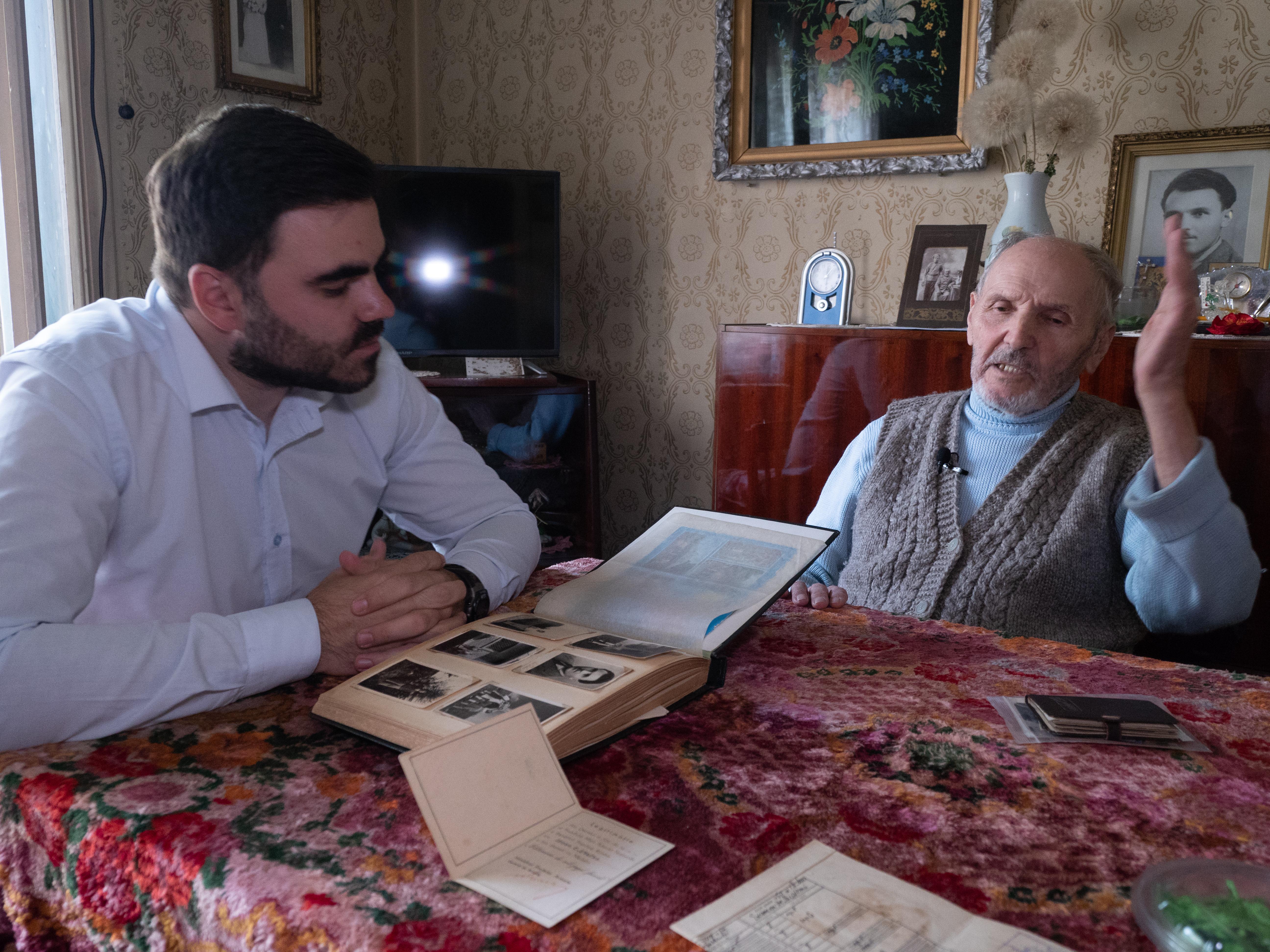 Acasa la veteranul de război Ştefan Grosu