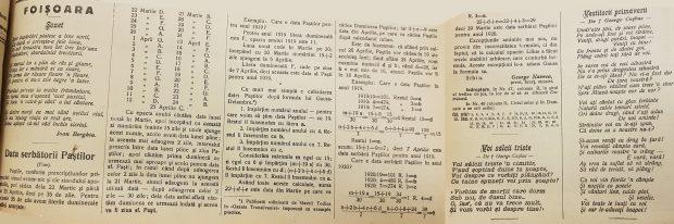 Telegraful Român, anul 1918, prezintă cititorilor cum să calculeze când va pica Paştele