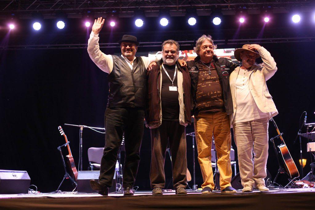 Nicu Alifantis, Alexandru Andrieș, Mircea Baniciu și Mircea Vintilă, într-un turneu istoric