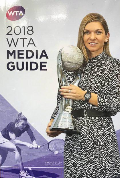 Simona Halep, pe coperta ghidului media WTA. Simo are consacrate 12 pagini / FOTO în articol