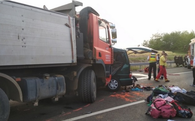 UPDATE / Nouă români morți într-un accident în Ungaria. Victimele se întorceau de la muncă, din Slovenia