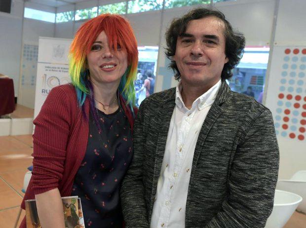 Ioana Nicolaie și Mircea Cărtărescu la Madrid FOTO: ICR