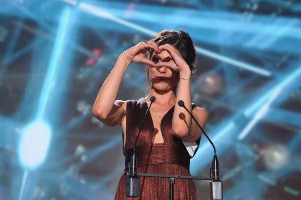 Actriţa Ana Ularu a întors toate privirile la Premiile UNITER