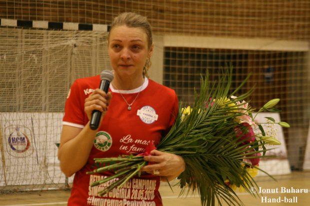 Ucraineanca Iryna Glibko, cea mai bună marcatoare din Liga Națională de handbal. S-a retras Simona Gogârlă