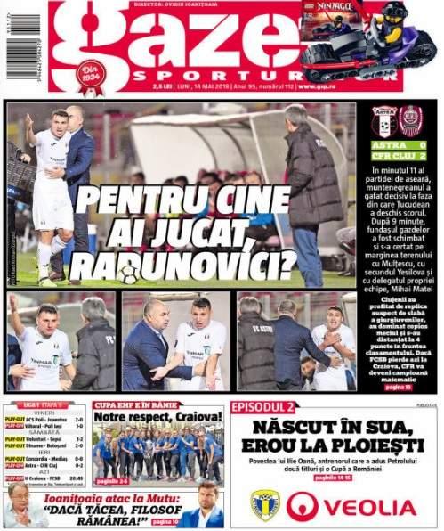 """Fundașul muntenegrean Risto Radunovici va fi dat afară din lot de patronul Astrei Giurgiu după gafele din meciul cu CFR Cluj. Reacția impresarului: """"A greșit, se întâmplă! Dar de aici pâna la suspiciuni de genul asta, e cale lungă"""""""