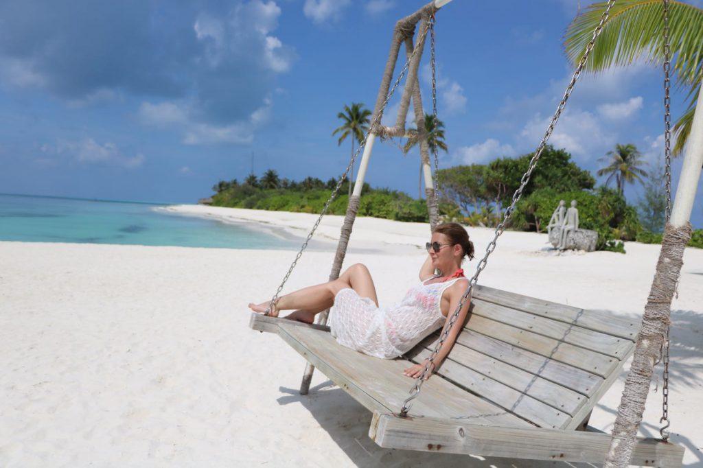 Sandra Stoicescu a făcut snorkeling în Maldvie