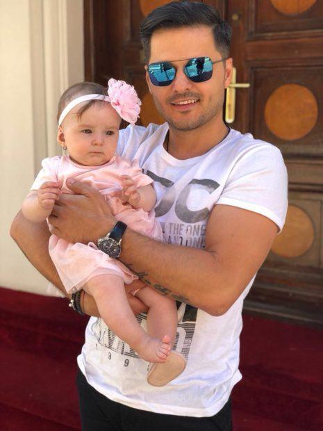 Liviu Vârciu a aruncat cu bani la petrecerea de botez a fiicei lui.