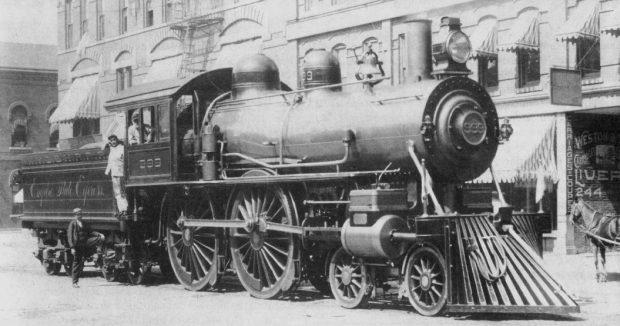 Locomotiva cu aburi nr 999 NYC New York Central Railroad